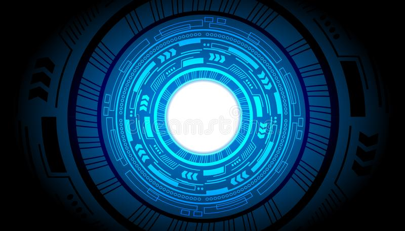 Technology interface hud power future abstract background vector Technology business. Design stock illustration