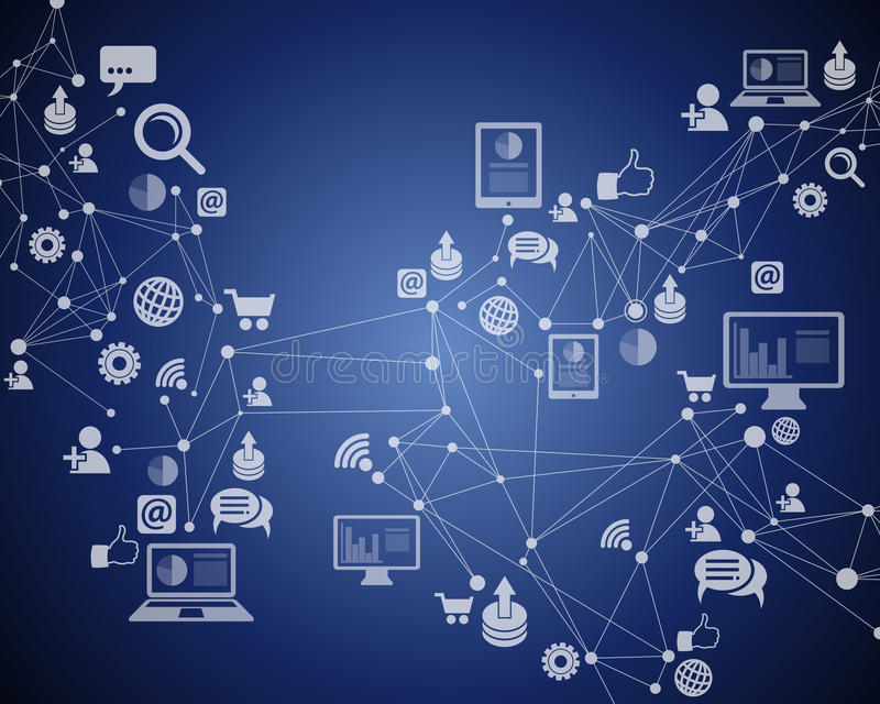 Technology Internet Connection royalty free illustration