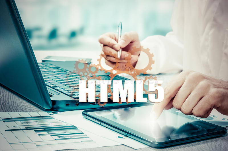 Technology, Internet and network security. HTML5. Technology, Internet and network security HTML5 stock image