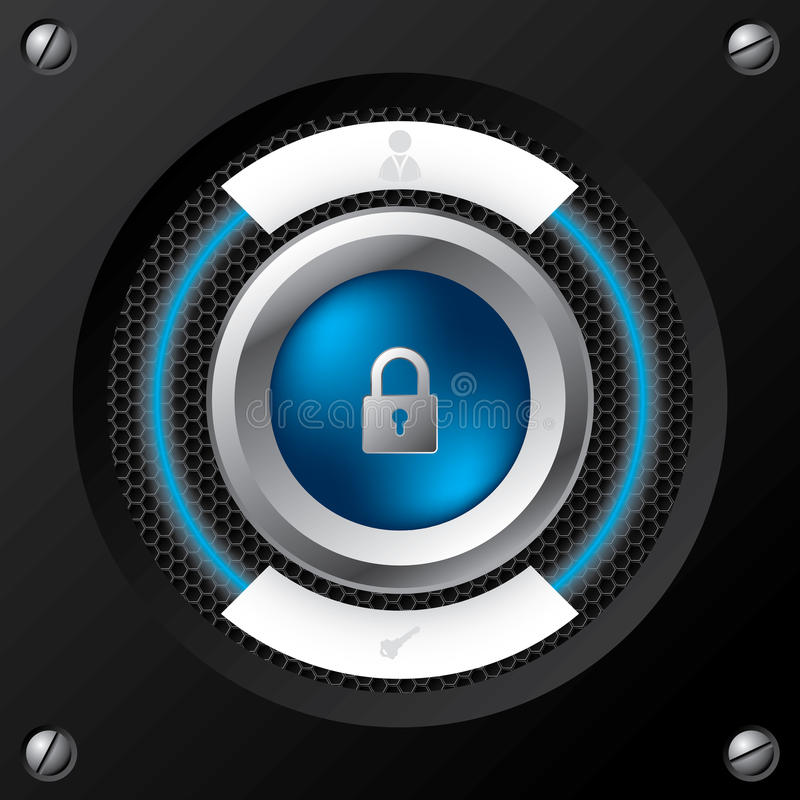 Download Technology login screen stock vector. Image of button - 25387825