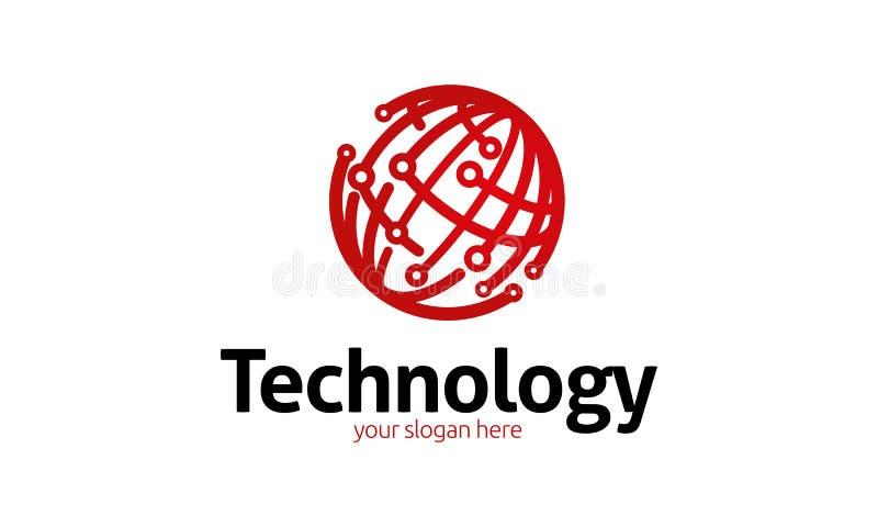 Technology Logo Template royalty free illustration