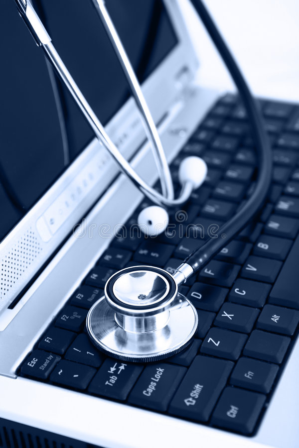 Technology and medicine blue royalty free stock images