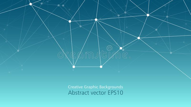 Technology and medicine digital connections, creative vector presentation layout composition stock illustration