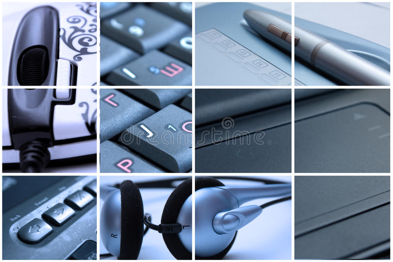 Technology montage royalty free stock photos