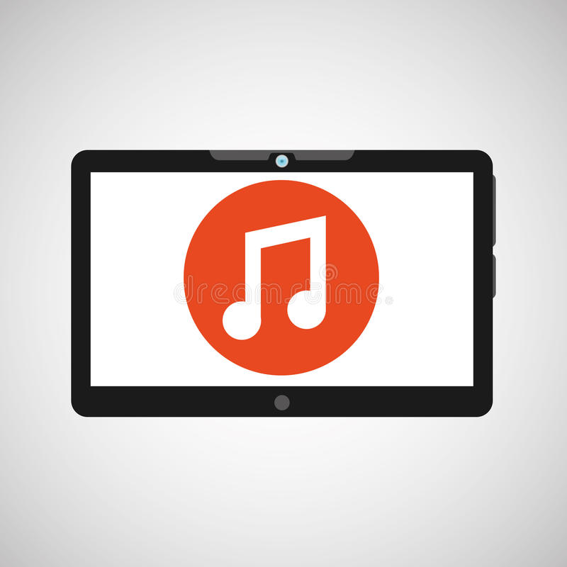 Technology music social media design. Vector ilustration eps 10 stock illustration