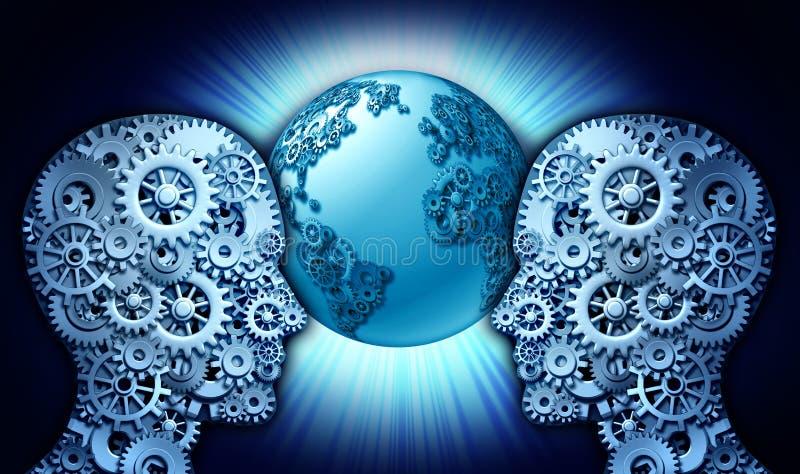 technology partnership stock image