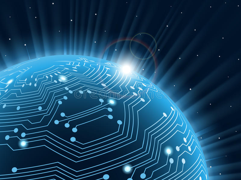 Technology planet. stock images
