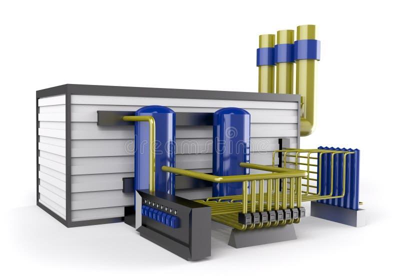 Technology power construction vector illustration