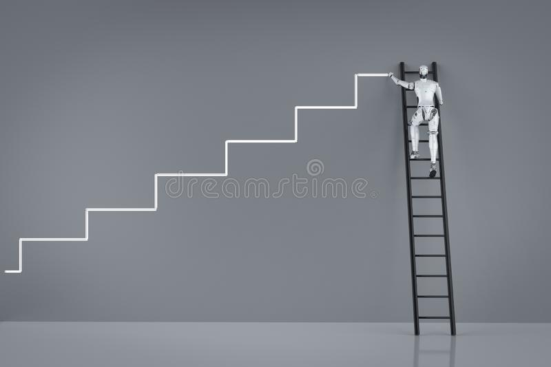 Technology progress concept vector illustration