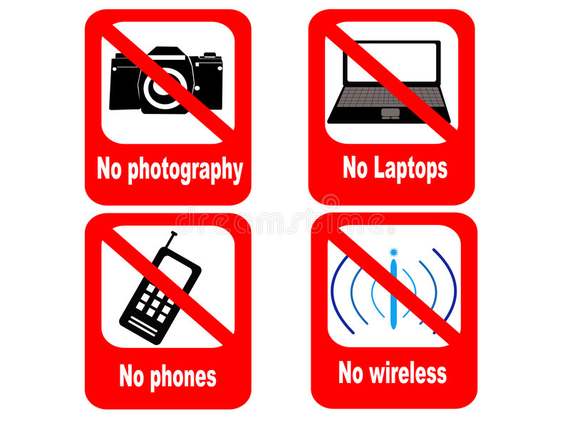 Technology Prohibited Sign Royalty Free Stock Photography