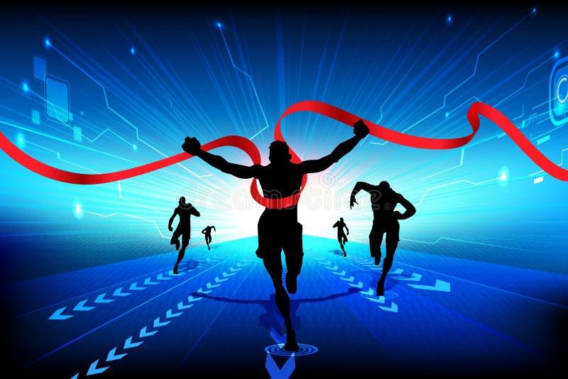 Technology Race vector illustration