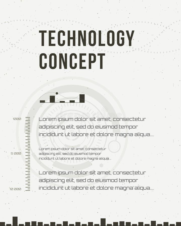 Technology Report, Flyer Design Template, Brochure. Geometric ...