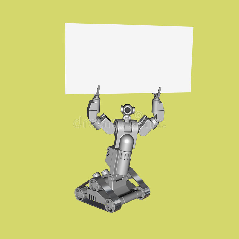Technology Robot Sign Royalty Free Stock Images
