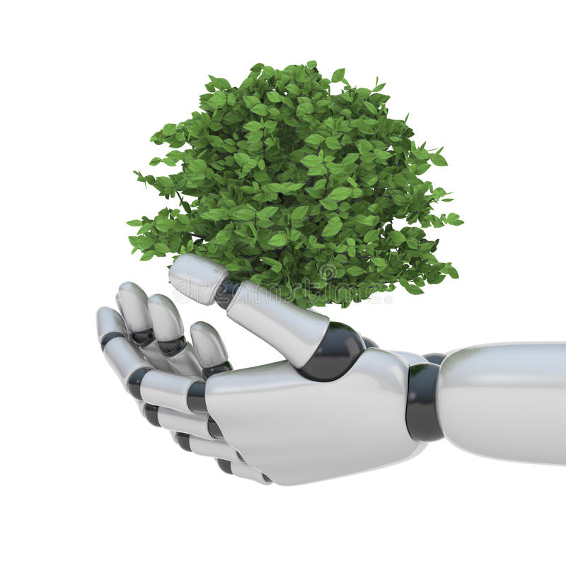 Technology Save Nature Royalty Free Stock Photos