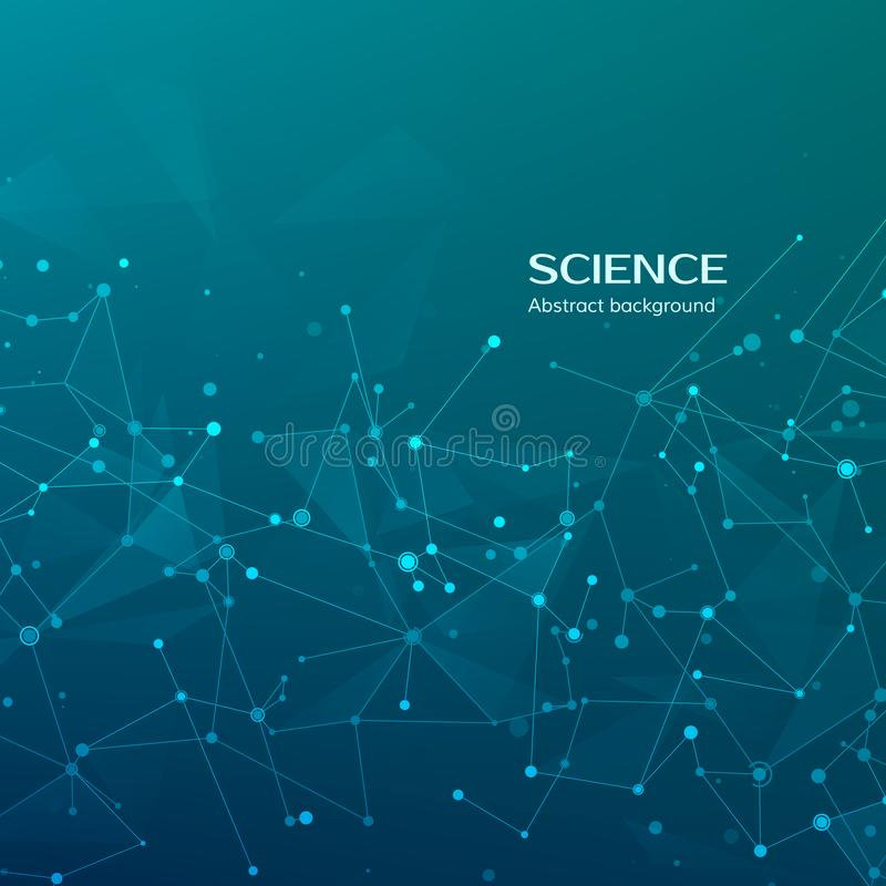 Technology and science background. Abstract web and nodes. Medical background. Plexus atom structure. Vector illustration.  vector illustration