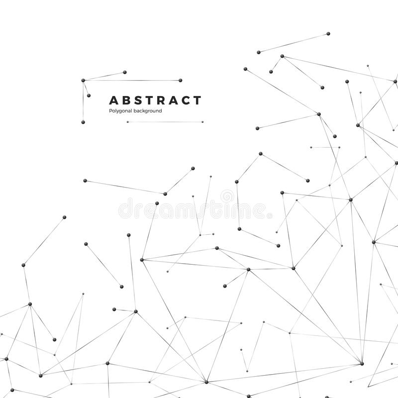 Technology and science background. Abstract web and nodes. Plexus atom structure. Vector. Illustration on white background royalty free illustration