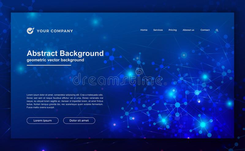 Technology, science, futuristic background for website designs. Abstract, modern background for your landing page design. Header. For website vector illustration