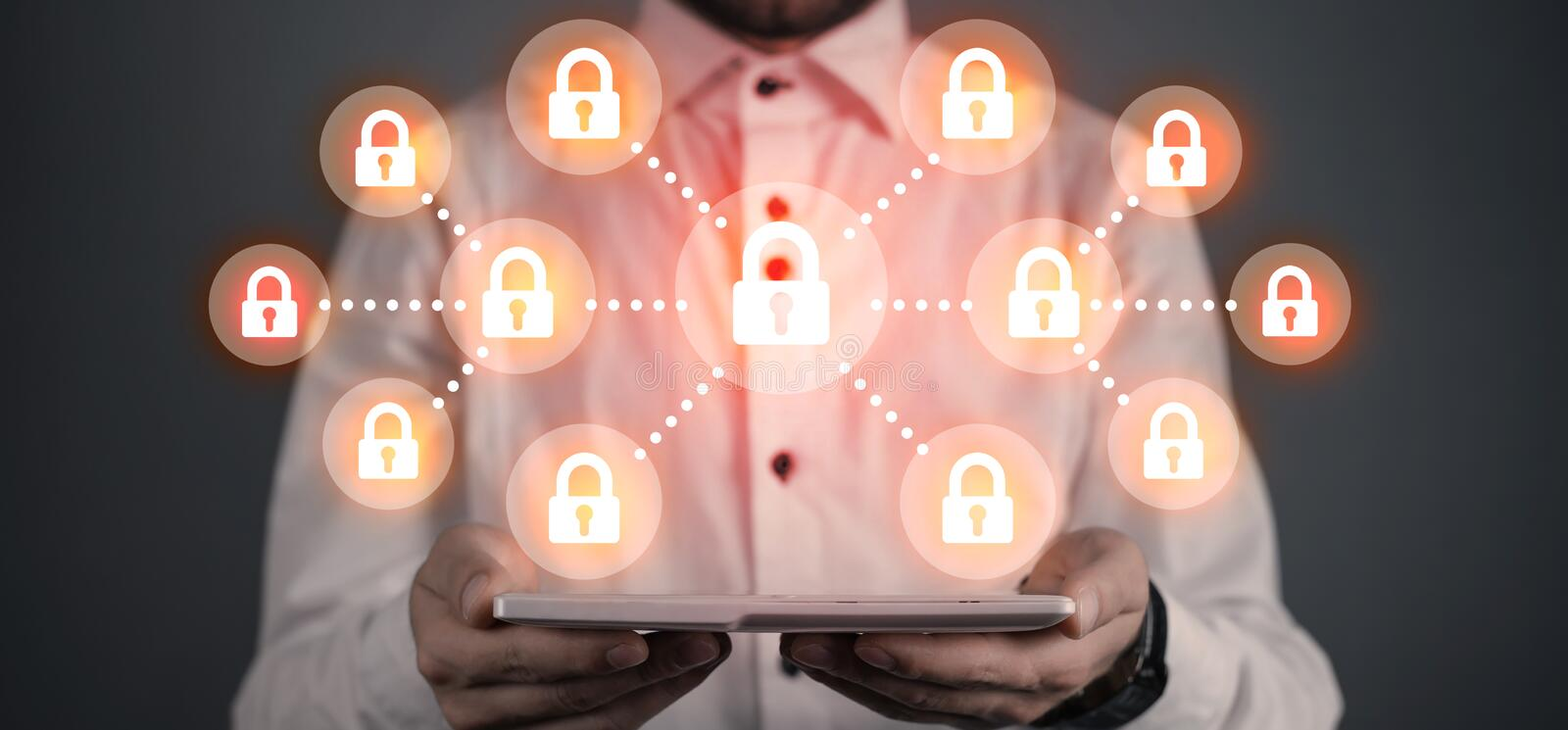 Technology security concept. Business concept stock images