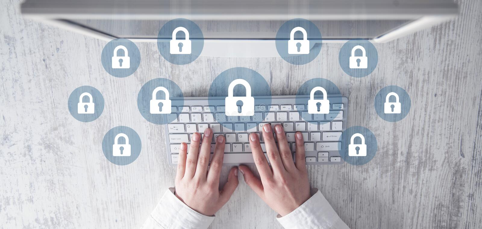 Technology security concept. Business concept royalty free stock photo