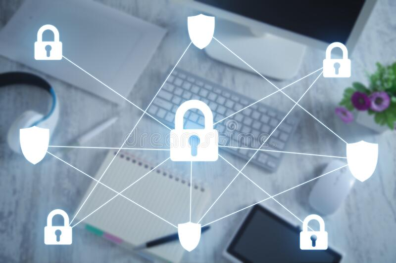 Technology security concept. Internet. Network stock images