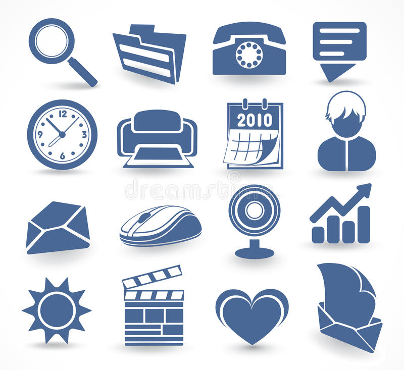 Download Technology set of icons stock vector. Image of increase - 12562860