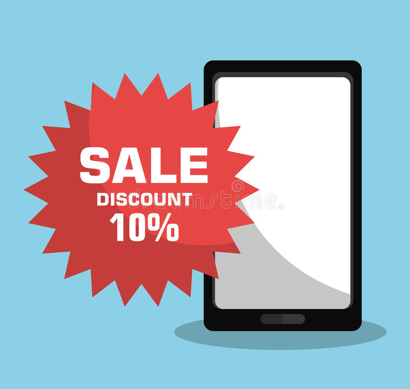 Technology shopping offers with discounts. Graphic design, illustration vector illustration