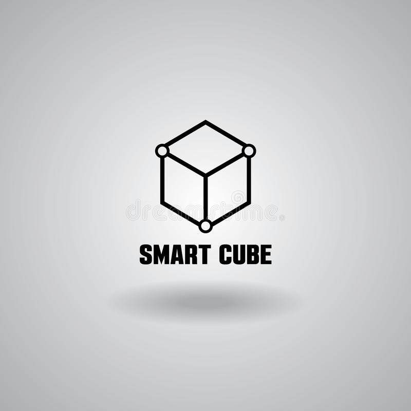 Technology Smart Cube logo, computer and data related business, hi-tech and innovative. Technology logo, computer and data related business, hi-tech and vector illustration