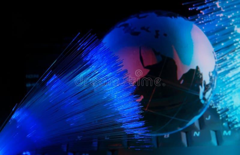 Technology style against fiber optic background royalty free stock photos