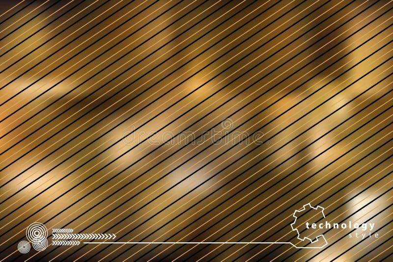 Golden Technology Background Stock Illustration
