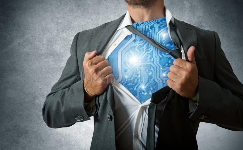 Technology super hero stock photos