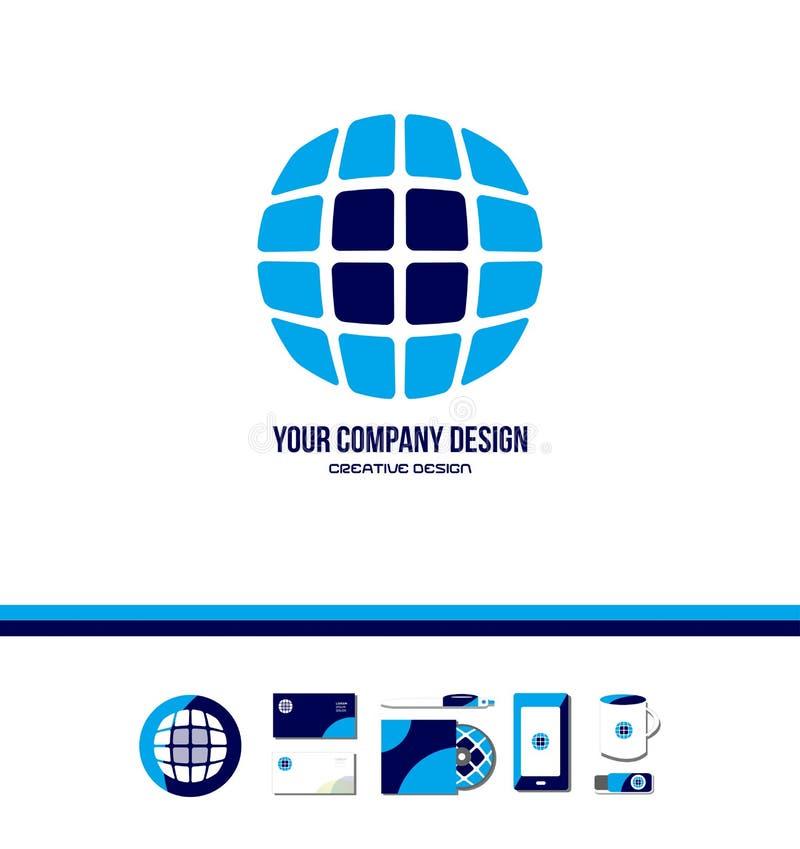 Technology tech globe logo vector illustration