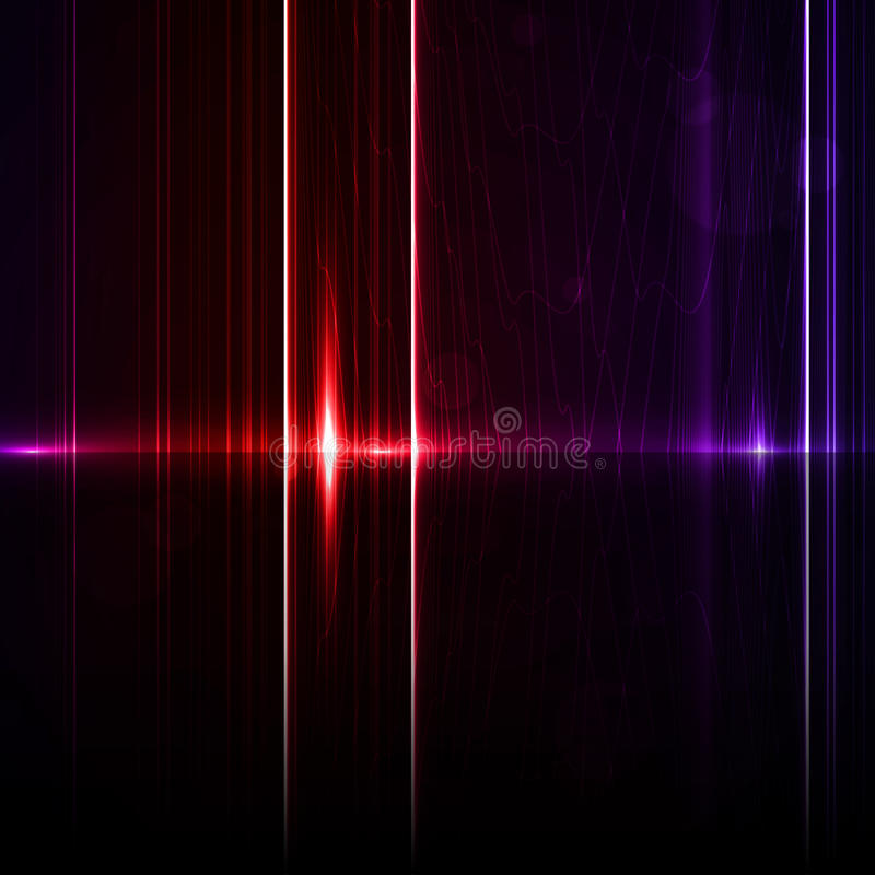 Free Technology Template. Neon Abstract, Reflection Royalty Free Stock Photography - 30148647