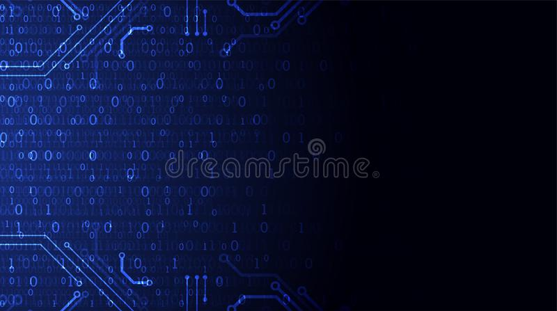 Technology background. Binary computer code. Vector illustratio. Technology themed blue background. Binary computer code. Creative vector illustration vector illustration