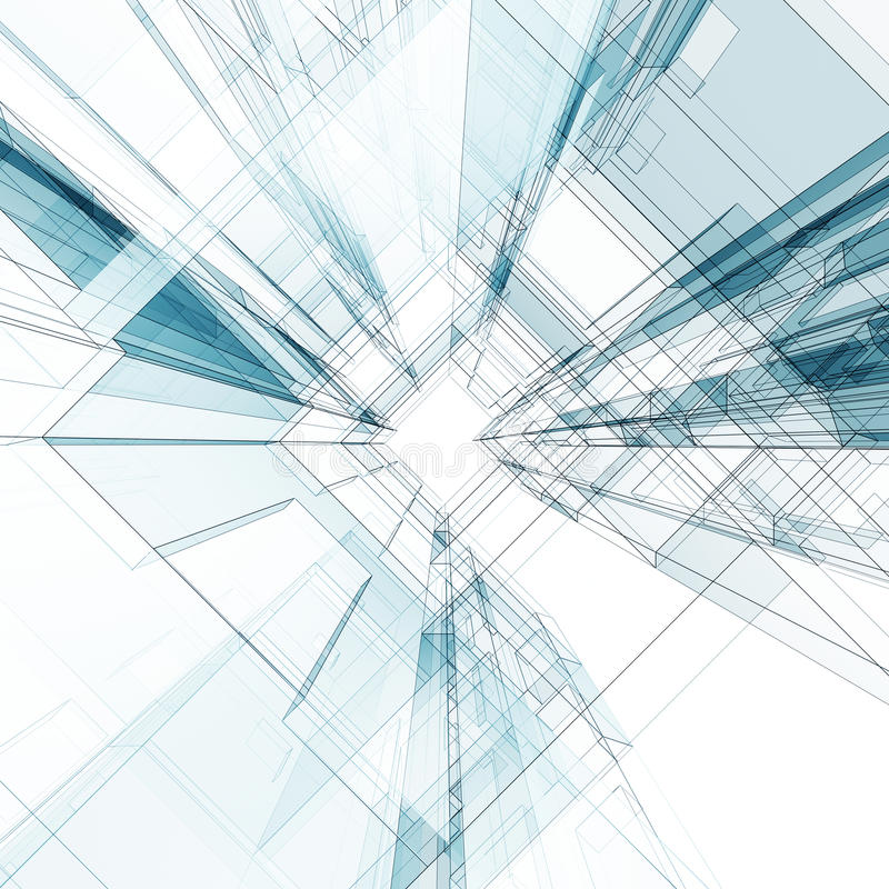 Technology tunnel royalty free illustration