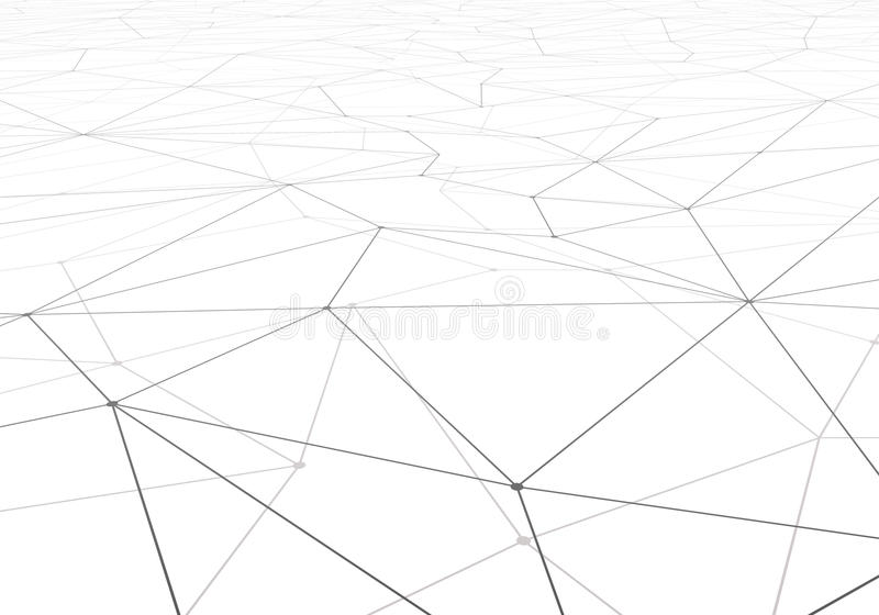Technology vector background. Wireframe polygonal landscape. Mountains with connected lines and dots. Vector illustration stock illustration