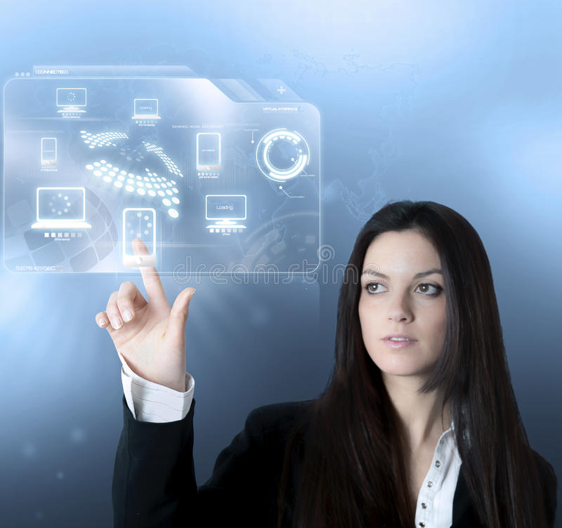 Download Technology Virtual Interface Stock Photo - Image: 26204010
