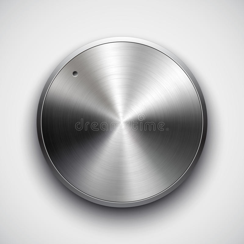 technology volume button with metal texture stock vector