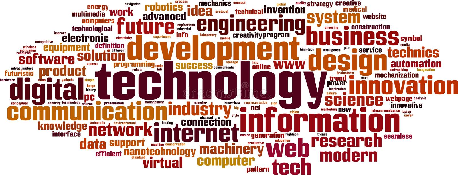 Technology word cloud royalty free illustration