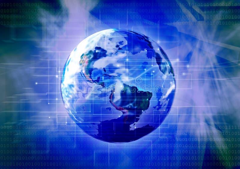 Technologycal planet 3. Photoshop design work vector illustration