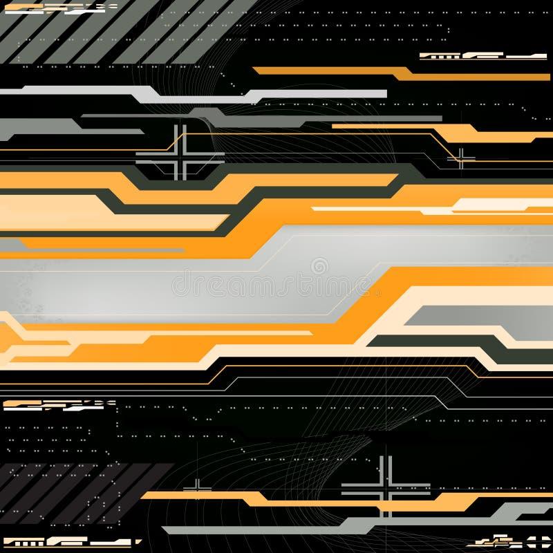 Technologypanel ilustração stock