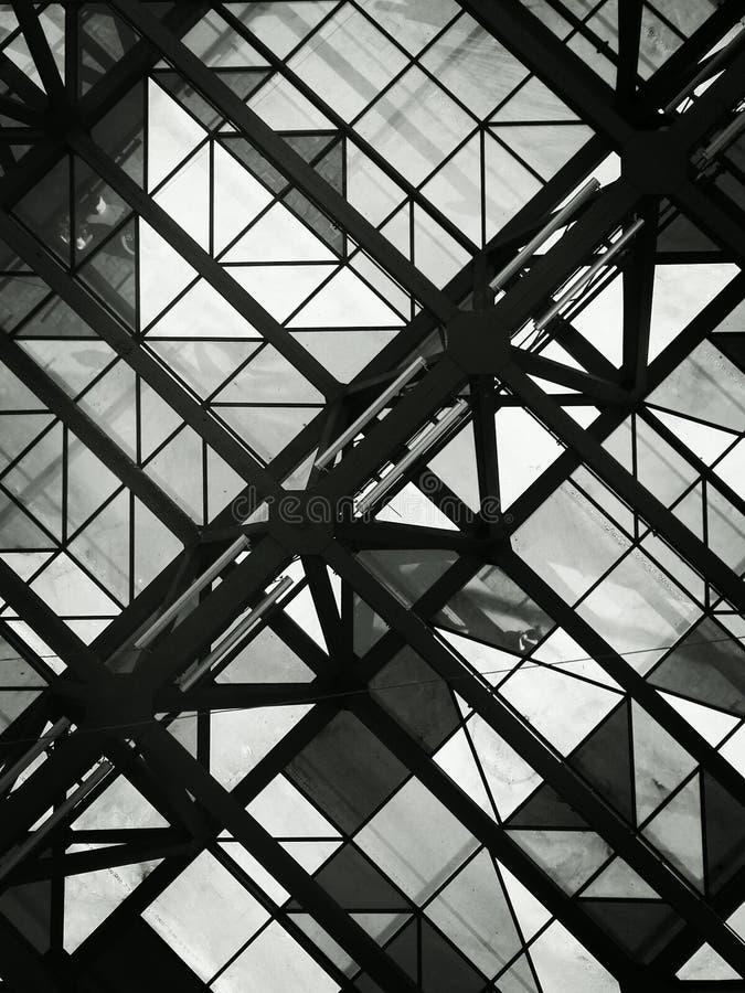 Techo blanco y negro imágenes de archivo libres de regalías