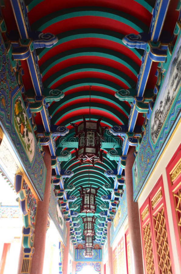Techo chino del templo foto de archivo libre de regalías