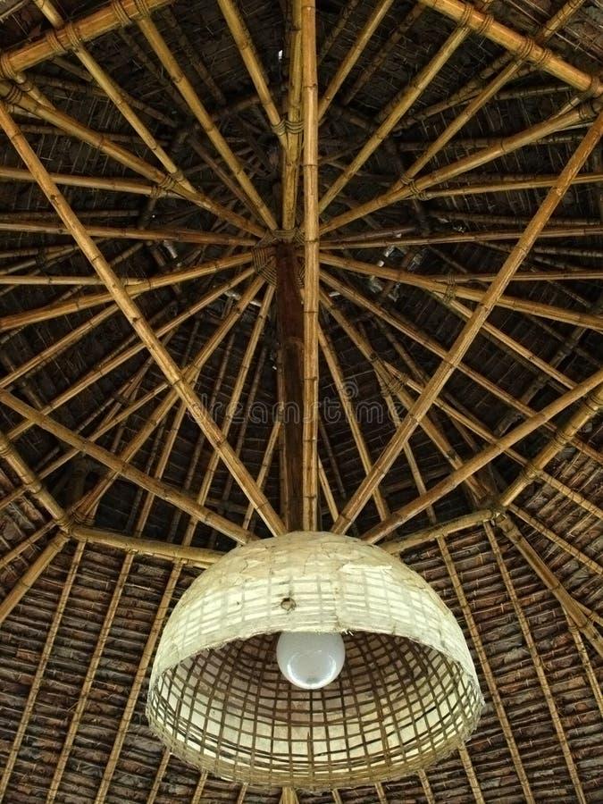 Techo de bambú fotos de archivo libres de regalías