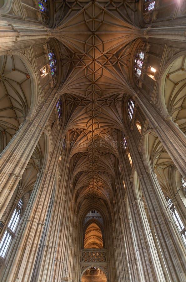 Techo de la catedral de Cantorbery foto de archivo