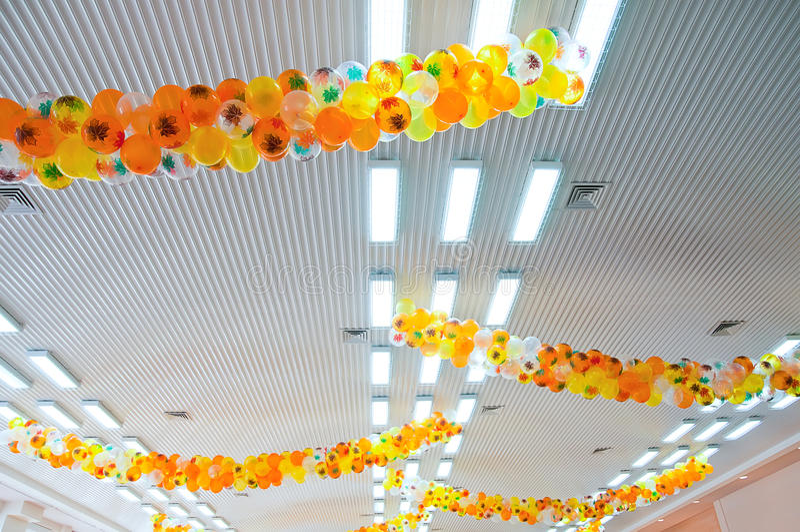 Techo de la decoración del pasillo imagenes de archivo
