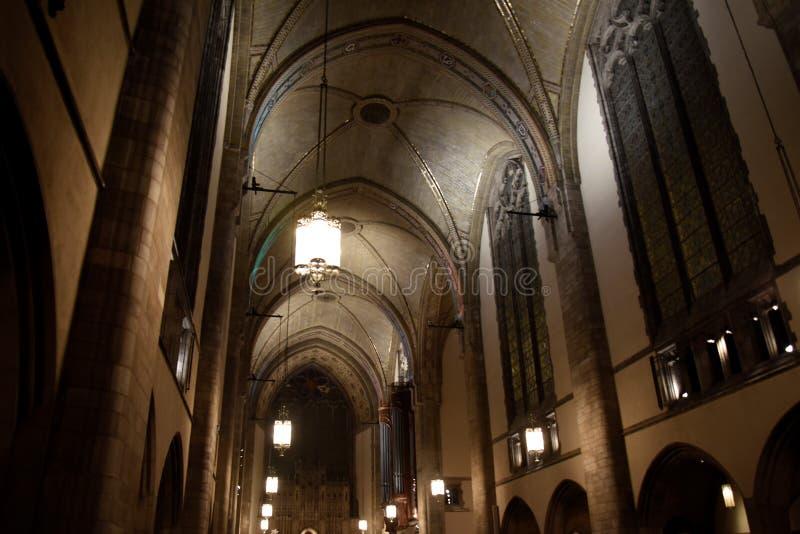 Techo de piedra de la capilla de Rockefeller fotos de archivo