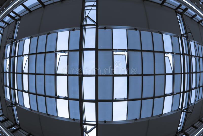 Techo de un edificio moderno foto de archivo libre de regalías