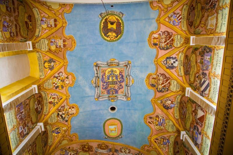Techo de una catedral en Ljubljana imagen de archivo