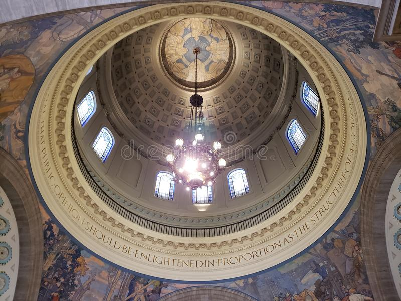 Techo del capitol del estado de Missouri que construye los E.E.U.U. fotografía de archivo libre de regalías
