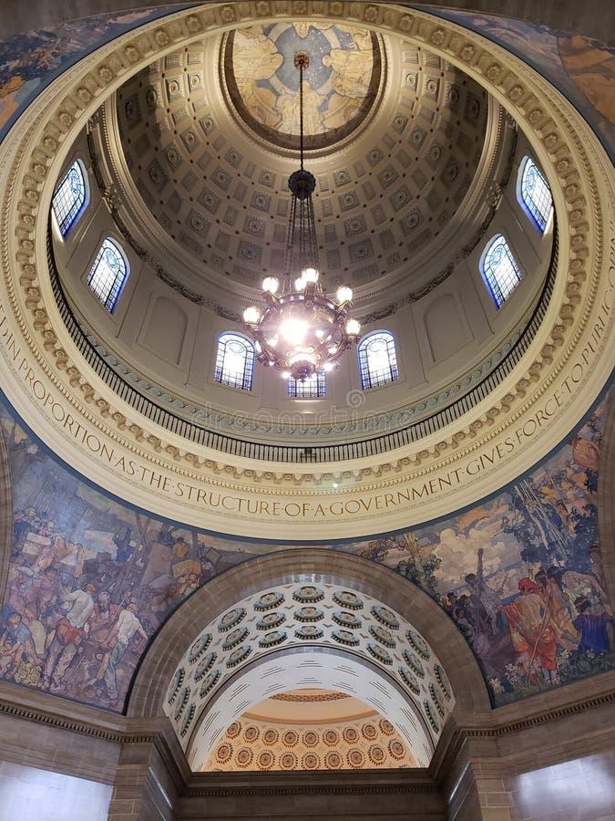 Techo del capitol del estado de Missouri que construye los E.E.U.U. foto de archivo libre de regalías